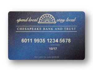 Chesapeake Bank and Trust Local Gift Card